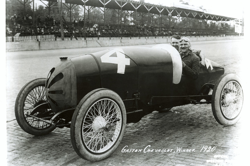 Race winner Gaston Chevrolet