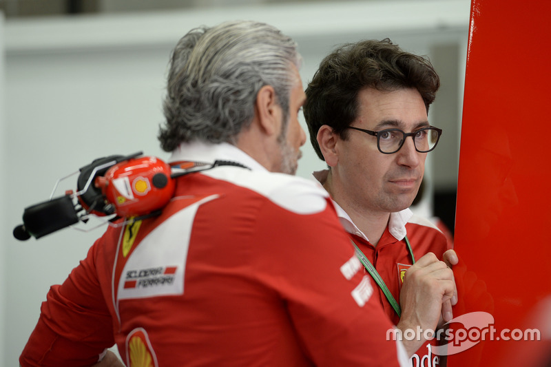 Maurizio Arrivabene, Team Principal e Mattia Binotto, Race Engine Manager Ferrari