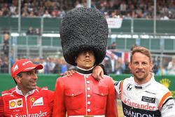 Marc Gene, Ferrari and Jenson Button, McLaren, Palace Guard