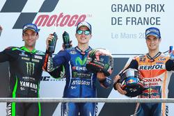 Podyum: Yarış galibi Maverick Viñales, Yamaha Factory Racing, ikinci sıra Johann Zarco, Monster Yamaha Tech 3, üçüncü sıra Dani Pedrosa, Repsol Honda Team