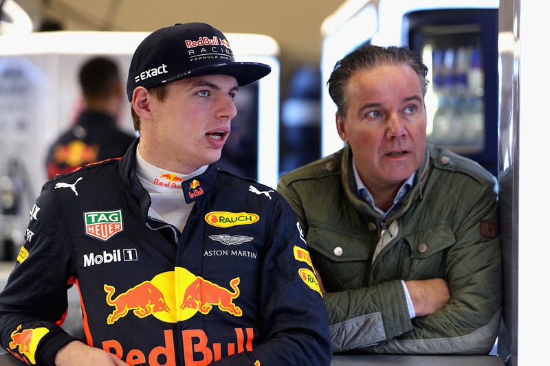 Max Verstappen, Red Bull Racing with manager Raymond Vermeulen