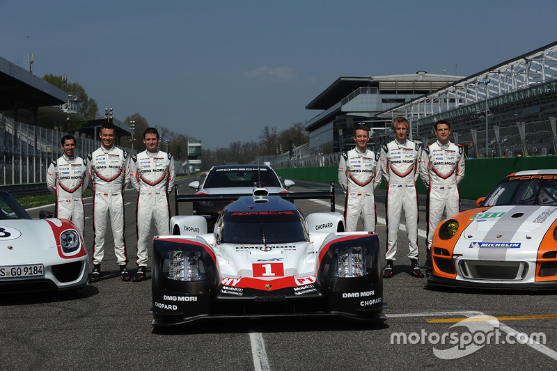 Timo Bernhard, Earl Bamber, Brendon Hartley, Neel Jani, Andre Lotterer, Nick Tandy, during the Porsche Team launch
