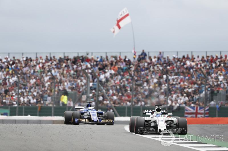 Felipe Massa, Williams FW40, Marcus Ericsson, Sauber C36