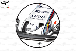 Williams FW40 new nose, captioned, British GP