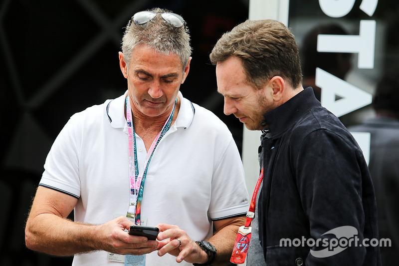 Mick Doohan, Christian Horner, director de Red Bull Racing Team