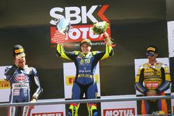 Podyum: Yarış galibi Ana Carrasco, Kawasaki, 2. Alfonso Coppola, Yamaha, 3. Marc Garcia, Yamaha