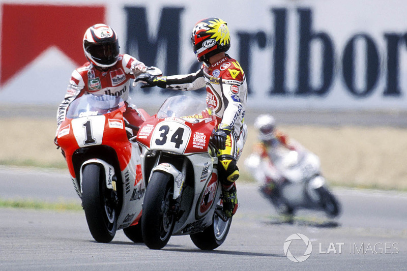 Wayne Rainey, Yamaha, Kevin Schwantz, Suzuki at 500cc: Spanish GP