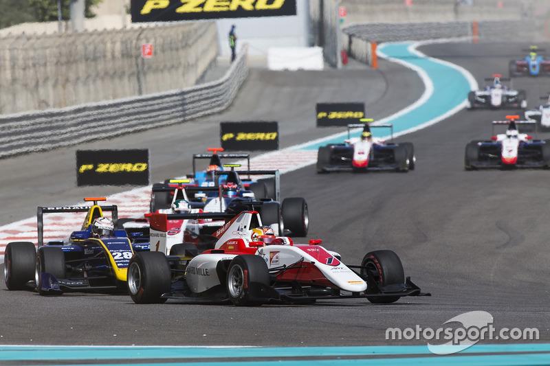 Charles Leclerc, ART Grand Prix leads Kevin Joerg, DAMS