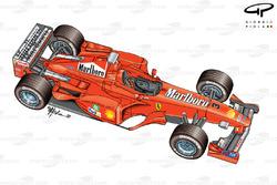 Ferrari F399 3/4 view