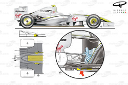 Brawn BGP 001 2009 diffuser exploded overview