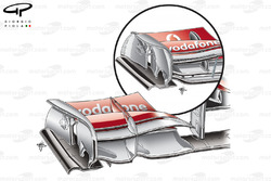 McLaren MP4-25 front wing changes (old specification inset)