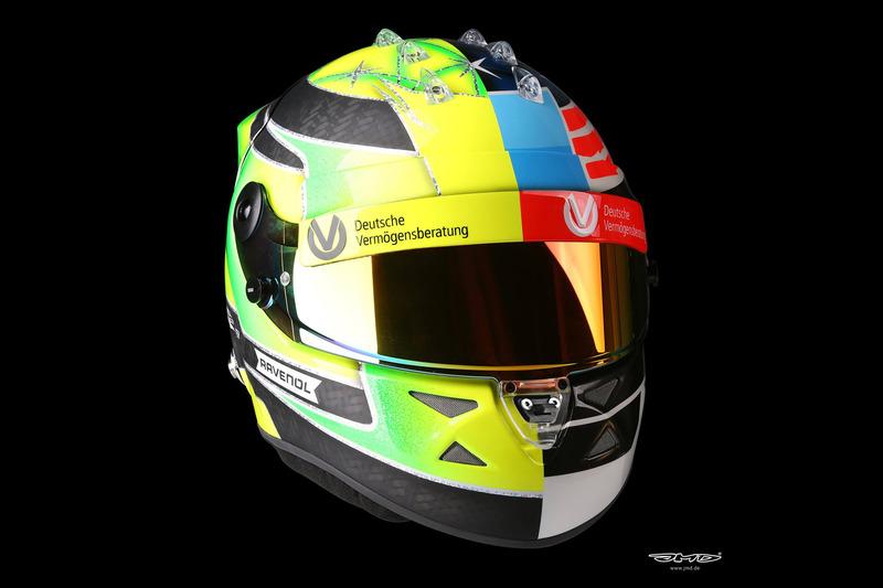 Helm Design helmet of mick schumacher at mick schumacher spa helmet design