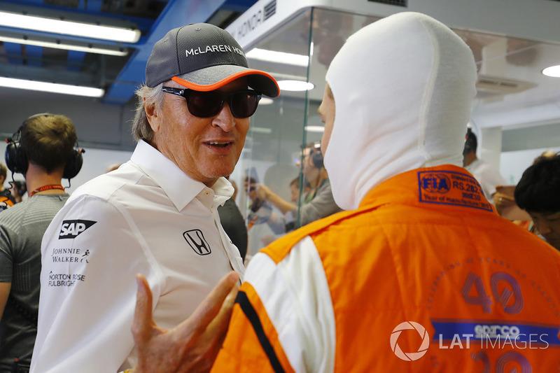 Mansour Ojjeh, McLaren con Stoffel Vandoorne, McLaren