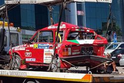 A112 Abarth Rally di Alessandro Pepe dopo l'incidente