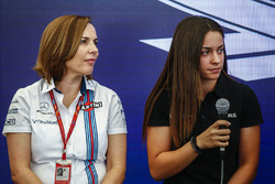 Claire Williams, Deputy Team Principal, Williams, Marta Garcia, Renault Sport F1 Team Sport Academy, at a Women in Motorsport Press Conference
