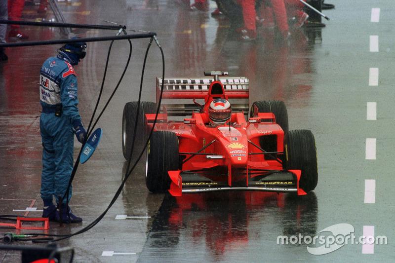1998. Подіум: 1. Міхаель Шумахер, Ferrari. 2. Міка Хаккінен, McLaren-Mercedes. 3. Едді Ірвайн, Ferrari