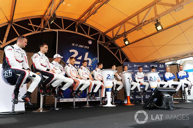 I piloti del team Porsche GT