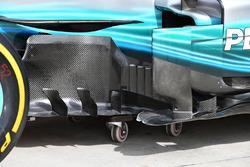 Mercedes-Benz F1 W08: Windabweiser