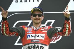 Podium: race winner Jorge Lorenzo, Ducati Team