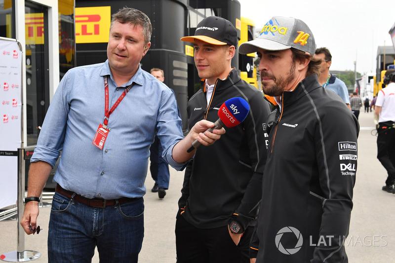 David Croft, Sky TV, Fernando Alonso, McLaren y Stoffel Vandoorne, McLaren