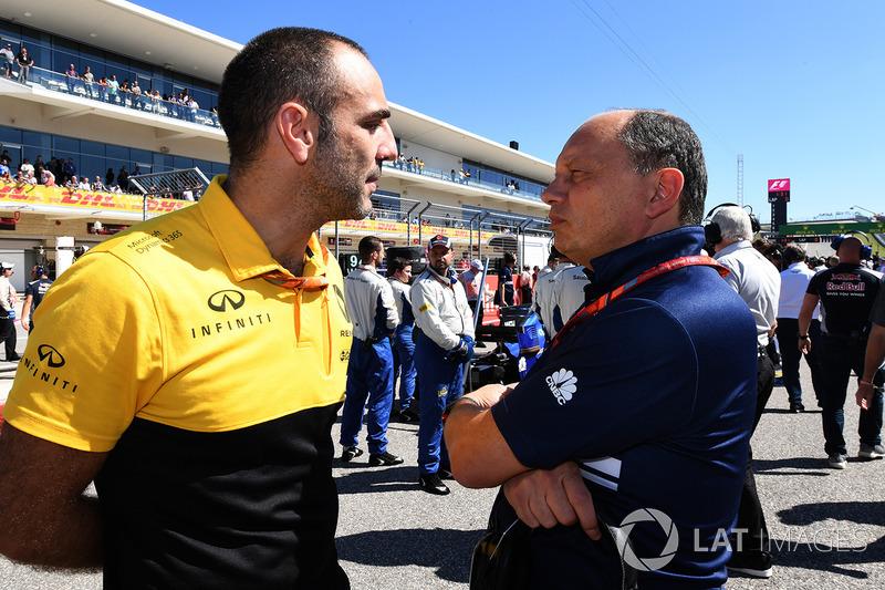 Cyril Abiteboul, directeur général Renault Sport F1 et Frédéric Vasseur, Team Principal Sauber