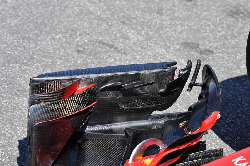 Detalle del alerón del Ferrari SF71H