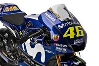 Bike detail of Valentino Rossi, Yamaha Factory Racing
