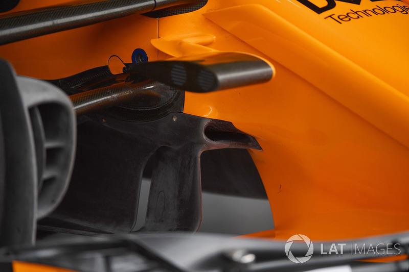 Detalle aerodinámico del McLaren MCL33