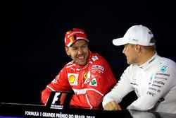 Sebastian Vettel, Ferrari and Valtteri Bottas, Mercedes AMG F1 in the Press Conference