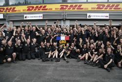 Tercero Romain Grosjean, Lotus F1