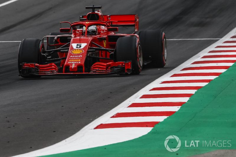 Vettel foi o terceiro, atrás também de Bottas