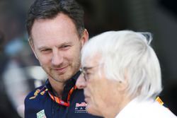 Christian Horner, Team Principal, Red Bull Racing, Bernie Ecclestone, Chairman Emeritus of Formula 1