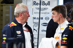 Dr Helmut Marko, Red Bull Motorsport Consultant and Max Verstappen, Red Bull Racing