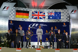 Podium: winner Lewis Hamilton, Mercedes AMG F1, second place Sebastian Vettel, Red Bull Racing, thir