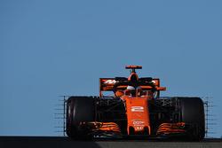 Stoffel Vandoorne, McLaren MCL32 avec des capteurs aérodynamiques