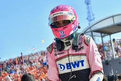Esteban Ocon, Force India F1 in parc ferme