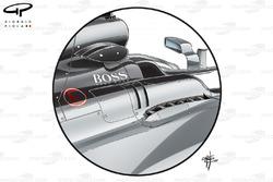 Aberturas extra del Mercedes W08