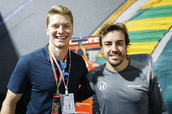 Josef Newgarden and Fernando Alonso, McLaren