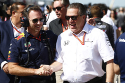 Christian Horner, Team Principal, Red Bull Racing, Zak Brown, Executive Director, McLaren Technology Group