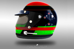 Brendon Hartley 1970's helmet concept