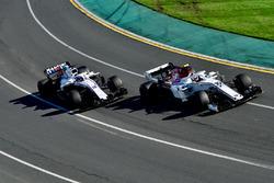 Charles Leclerc, Sauber C37 et Sergey Sirotkin, Williams FW41