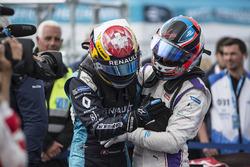 Sébastien Buemi, Renault e.Dams felicitado por Jose Maria Lopez, DS Virgin Racing