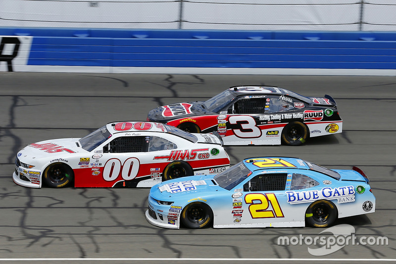 Daniel Hemric, Richard Childress Racing, Chevrolet; Cole Custer, Stewart-Haas Racing, Ford; Ty Dillon, Richard Childress Racing, Chevrolet