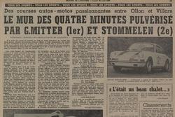 Tribune de Lausanne, article, record pulvérisé