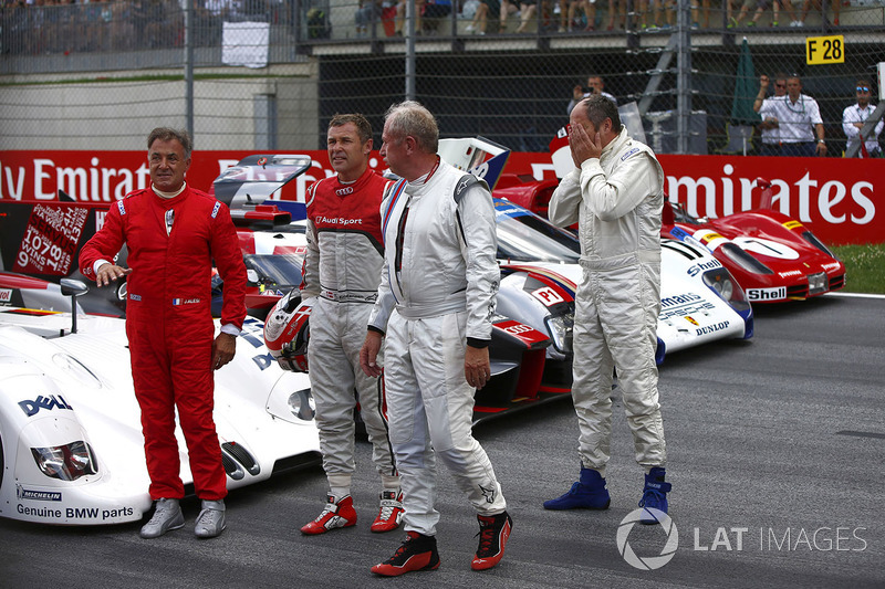 Jean Alesi, Helmut Marko, Tom Kristensen,  Gerhard Berger