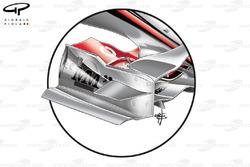 McLaren MP4-22 front wing endplate