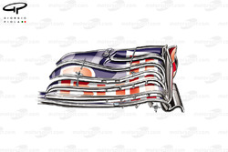 Red Bull RB10 new cascade-less front wing
