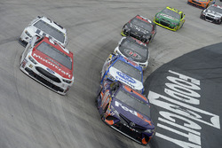 Denny Hamlin, Joe Gibbs Racing Toyota, Ryan Blaney, Wood Brothers Racing Ford, A.J. Allmendinger, JTG Daugherty Racing Chevrolet, Brad Keselowski, Team Penske Ford