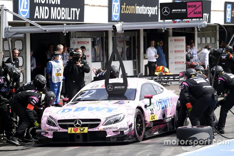 Pit stop, Lucas Auer, Mercedes-AMG Team HWA, Mercedes-AMG C63 DTM