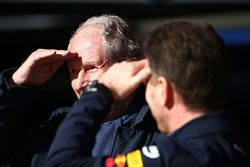 Christian Horner, teambaas Red Bull Racing, met Dr Helmut Marko, Red Bull Motorsport Consultant